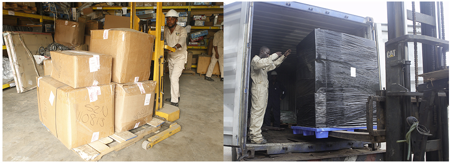 Shiptonaija Lagos Warehouse Team - Offloading of Ocean Shipments